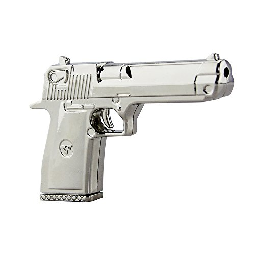 CHUYI Cool Metal Gun Pistol Shape 32GB USB 2.0 Flash Drive Novelty Pen Drive Thumb Drive Data Storage Memory Stick Pistol Jump Drive U Disk Gift (Silver)