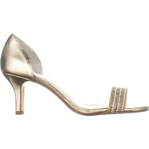 Fancy Toe Metallic Womens Classic Caparros Open Pumps Platino AwPqzx5