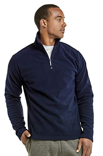 Knocker Men's Polar Fleece Quarter Zip Pullover (XL, Navy) ()