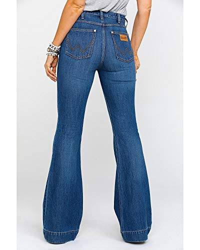Wrangler Women's Midtown High Rise Med Trouser Jeans Blue 29W x 34L