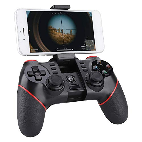 Bluetooth Game Controller, Mobile Phone Wireless Joystick Gamepad for iOS Android Cellphone Smart Phone Tablet Smart TV Set-top Box PC PS3 Game Console for Andriod/iOS/Win 7/8/10