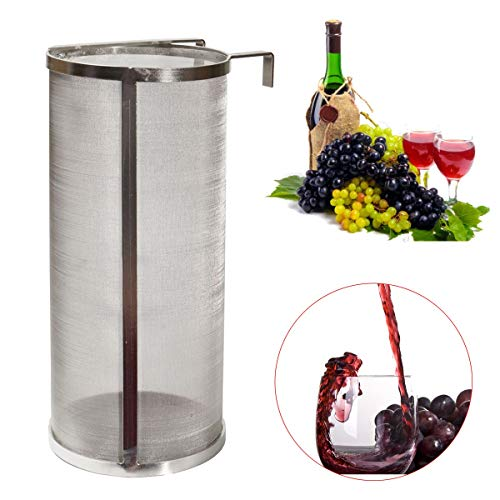 CocinaCo 300 Micron Stainless Steel Hopper Homebrew Wine Beer Brew Hop Filter ()
