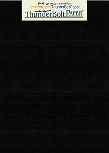 150 Black Linen 80# Cover Paper Sheets -5