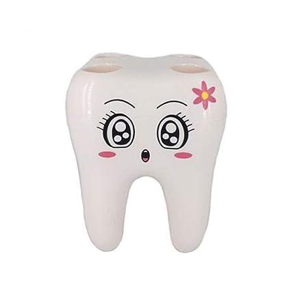 UCTOP Store - Soporte para cepillos de dientes de 4 agujeros para cara sonriente, diseño