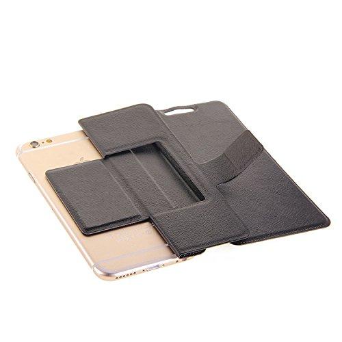 Caso de protección cubierta del tirón para Samsung Galaxy S9, negro | estilo del libro cartera cubierta delgada - K-S-Trade (TM)