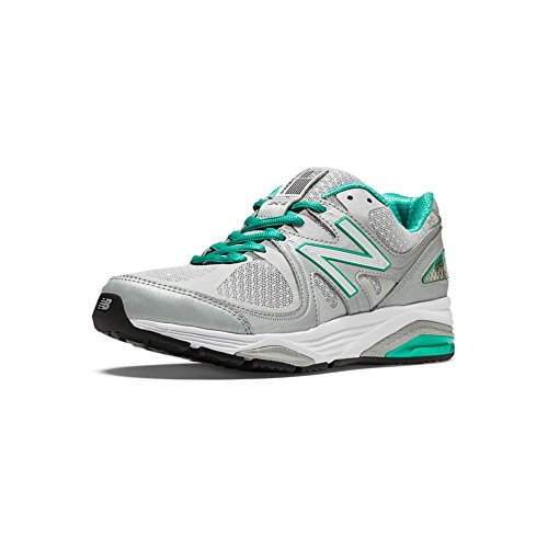 New Balance Women's W1540V2 Running Shoe, Silver/Green, 9.5 4E US