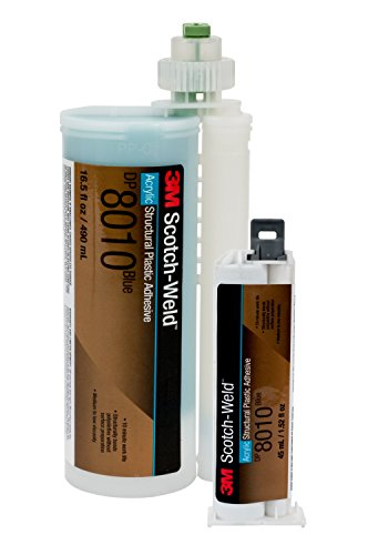 3M Scotch-Weld 71600 Structural Plastic Adhesive DP8010, 45 mL, Blue, 1.522 fl. oz.