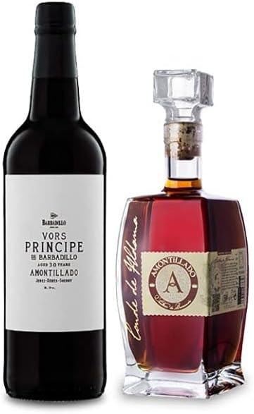 Vino Amontillado VORS Principe de Barbadillo de 75 cl y Vino Amontillado Conde de Aldama de 50 cl - Mezclanza Exclusiva