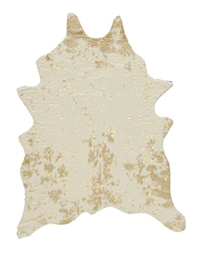 - Ashley Furniture Signature Design - Jaxith Accent Rug - Faux Cowhide - Brown