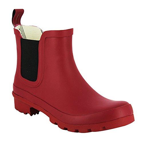 LAKELAND FOOTWEAR (INTERNATIONAL) LTD Lakeland Deep Red WoMen Rubber Chelsea Boots
