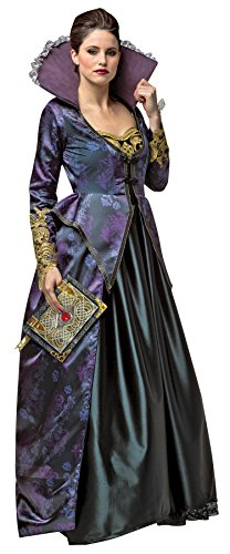 UHC Women's Once Upon A Time Evil Queen Outfit Fancy Dress Halloween Costume, L (6-8)
