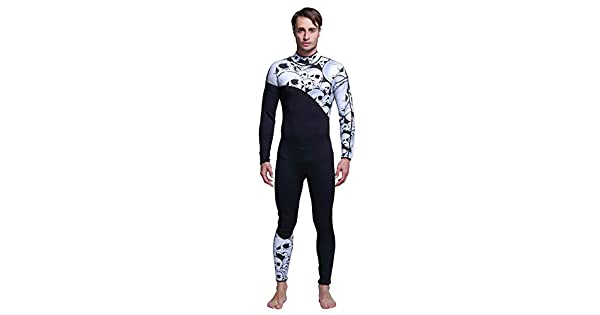 Black & White XL Diving Suits MY066 3mm Neoprene Siamese Diving Suit Surf Wear Skeleton One-Piece Wetsuit