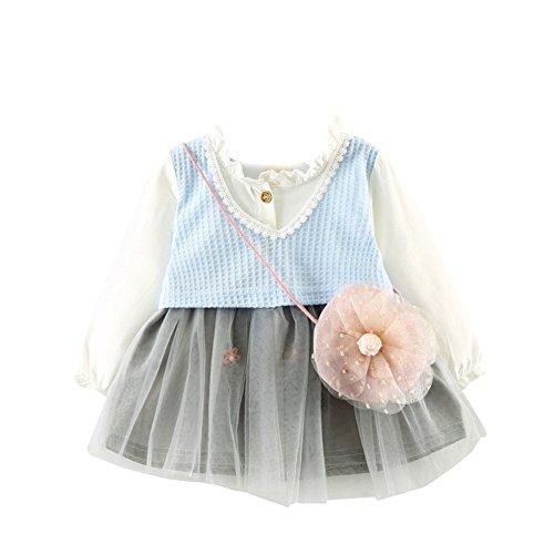 Longue Bébé Enfant En Bas Âge Weixinbuy Fille Manches D'une Ligne De Robes De Fleurs Habit Playwear Casual #e