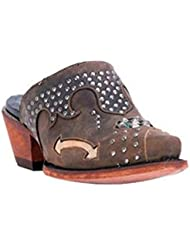 Dan Post Western Boots Womens Modern Studs Clogs Tan DPP5099