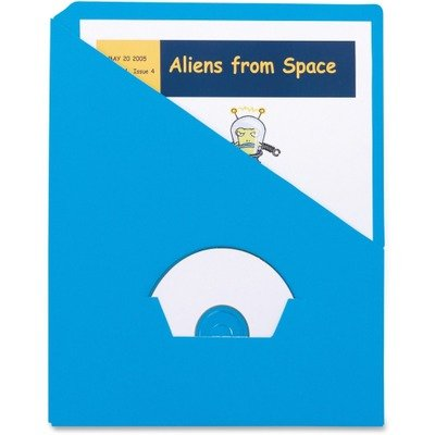 Pendaflex 32902 Essentials Slash Pocket Project Folders, 3 Holes, Letter, Blue, 25/Pack