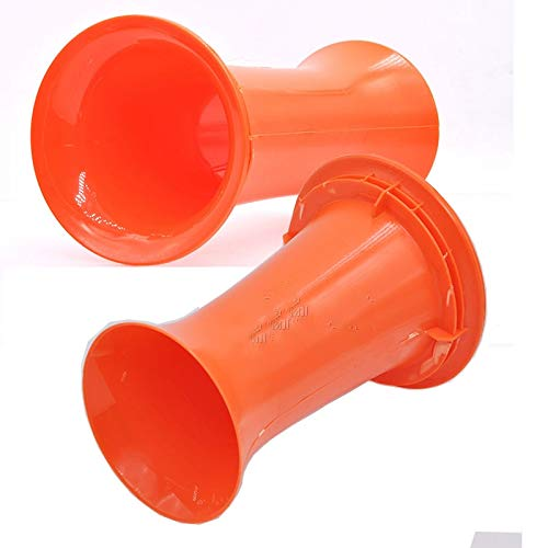 Gimax 10pcs/lot Speaker guide tube sound tube audio DIY accessories hole 99MM orange - (Color: 10pcs a pack)