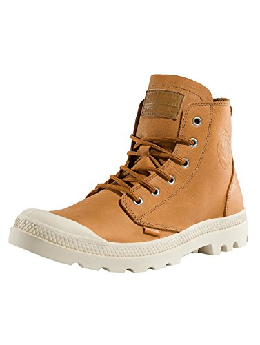 Adulte Baskets Birch Leather Pampa Mixte Hautes Unlined Palladium Hi Apricot I0gxUR