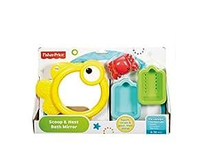 Amazon Com Fisher Price Scoop Amp Nest Bath Mirror Toys