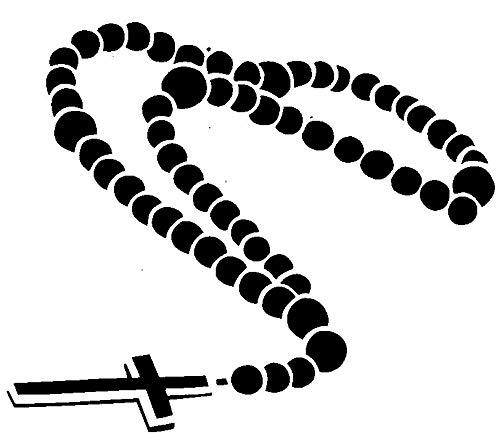 Rosary Prayer Beads - Domincan Catholic Church Transfer tattoos tattooing temporary tattoos Cute Face - Tattoo Beads Rosary