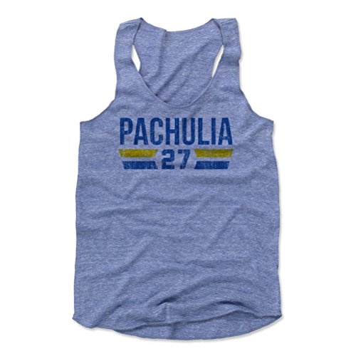 500 Level Zaza Pachulia Womens Tank Top Medium Pacific Blue   Golden State Basketball Womens Apparel   Zaza Pachulia Golden State Font B