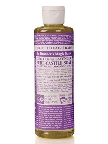 Dr. Bronner's Organic Liquid Soaps Lavender at Least 70% Organic, 16 Ounce