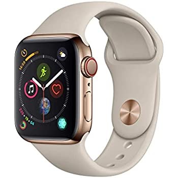 Apple Watch Series 4 (GPS + Cellular) 40mm Stainless Steel Smartwatch (Renewed)