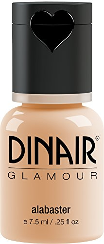 Dinair Airbrush Makeup Foundation | Alabaster | GLAMOUR: Natural, Light coverage, Matte 0.25 oz.