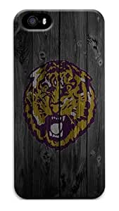 Rugged iPhone 5S Case - Wood Lion Purple Snap on Hardshell Case Back Cover Protector for iPhone 5s and iPhone 5