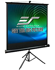 Elite Screens Tripod, 85-inch, Adjustable Multi Aspect Ratio Portable Pull Up Projection Projector Screen, T85UWS1