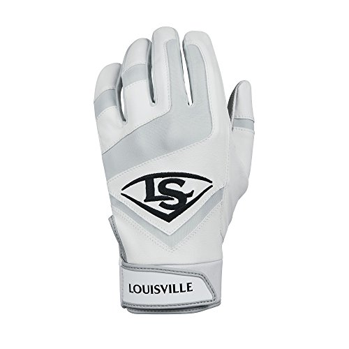 Louisville Slugger Genuine Adult Batting Gloves - Medium, White