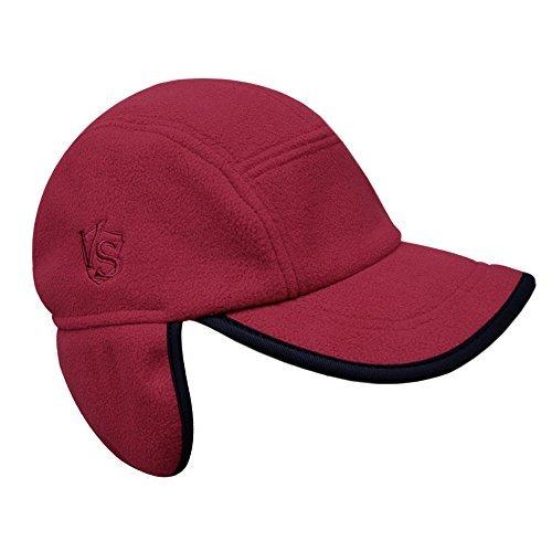 (Vital Salveo- Outdoor 3WARM Windproof Fleece Winter Earflap Cap (Wind Red))