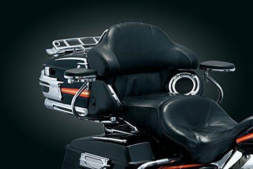Kuryakyn 8979 Quick Detach Passenger Armrest With Swing Out Drink Holder For Harley-Davidson Touring ()