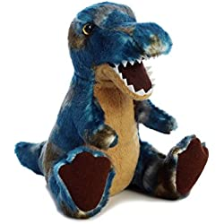 Aurora World T-Rex Plush Dinosaur, Blue, Small