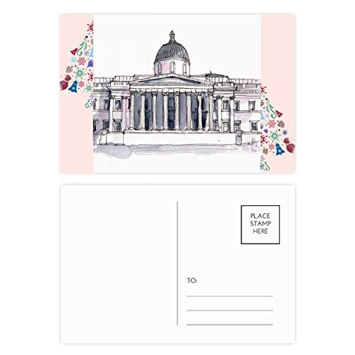 National Gallery Postcards - National Gallery in London Christmas Tree Postcard Thanks Card 20pcs