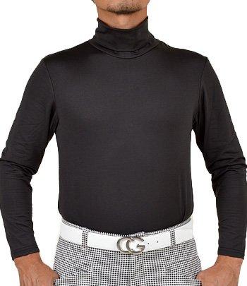 【コモンゴルフ】 COMON GOLF +3℃ 裏起毛 発熱 長袖 タートルネック ゴルフ Tシャツ NF-NEK19 L ブラック