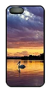 iPhone 5 5S Case Pelican animals PC Custom iPhone 5 5S Case Cover Black