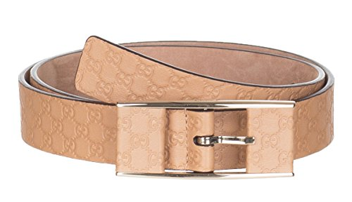 Gucci Women's Beige Thin GG Microguccissima Covered Buckle Leather Belt, 38, Beige by Gucci