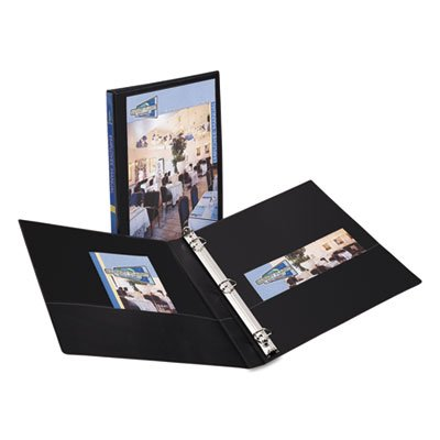 Durable View Binder with Slant Rings, 11 x 8 1/2, 1/2'''' Capacity, Black, Sold as 1 Each