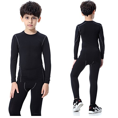 Minghe Boy s Long Underwear Set Skin Base Layer Tops Bottom Moisture ... 91322047b8