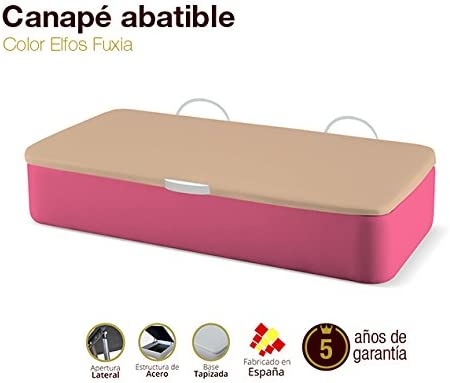 Canapé Abatible Tapizado Apertura Lateral Tapa 3D Elfos Fuxia 80x180cm Envio y montaje gratis: Amazon.es: Hogar