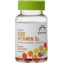 Amazon Brand - Mama Bear Organic Kids Vitamin D3 Gummies, 60 Gummies, 1 Month Supply