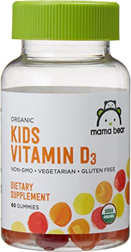 Amazon Brand - Mama Bear Organic Kids Vitamin D3, 60 Gummies, 800 IU Vitamin D per Serving (2 - Vitamin D For Children