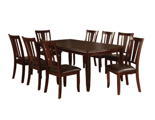 Furniture of America Frederick 9-Piece Dining Table Set with 18-Inch Expandable Leaf, Espresso Finish ()