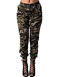 LIYT Women's Fashion Loose High Waist Camouflage Pants Casual Pants Trousers