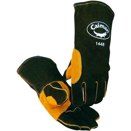 - Caiman Black Cowhide, Reflective Insulation, Welding-Premium One Size