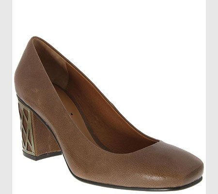 Classic Nina Square Glazed Womens Violin Toe Pumps Greige nqq8IWr