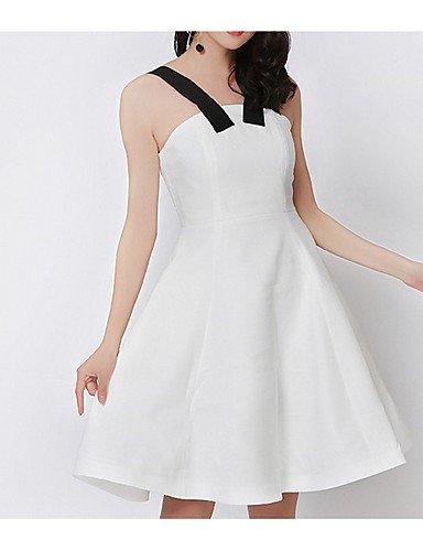 Mujer Fiesta Rodilla De Una Partido Sólido Mujer Micro de Blanco Bustier Fiesta Sin Línea Por Vestido Mangas Jiale3536 Encima La vestidos Opaco Elástica Para xwIqC0xAT