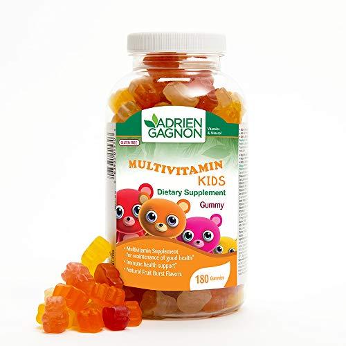 Adrien Gagnon - Gummy Vitamins for Kids, Daily Immune System Support, Natural Fruit Burst Flavor, 180 Gummies