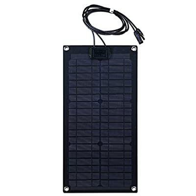 Best Cheap Deal for Lensun® 12V Black Fiberglass Semi-Flexible Monocrystalline Solar Panel for 12V Charge Battery on Boats, Caravans, Motorhomes, Yachts, RVs from Sumyok - Free 2 Day Shipping Available