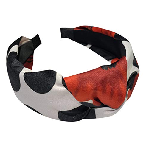 Iusun Headband Wave Point Print Knot Wide-Brimmed Hairpin Accessory Women Sweet Girls Hair Care Jewelry Decoration Hairband ()